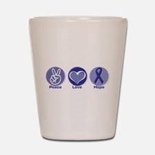 Peace Love Purple Hope Shot Glass