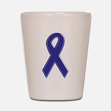 Purple Awareness Ribbon Shot Glass