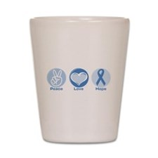 Peace LtBl Hope Shot Glass