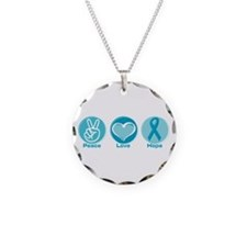 Peace Love Teal Hope Necklace