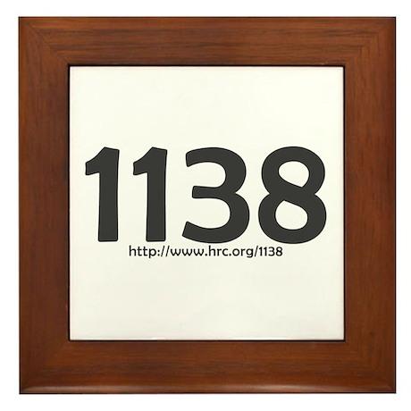 1138 Rights Denied Framed Tile