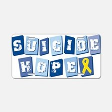 Suicide Hope Aluminum License Plate