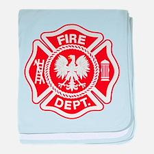 Polish Firemen baby blanket