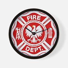 Polish Firemen Wall Clock