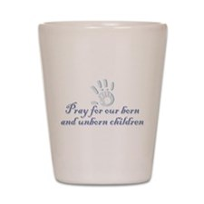 Pray children (hand) Shot Glass