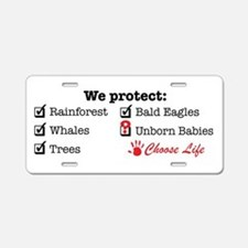 We Protect Aluminum License Plate
