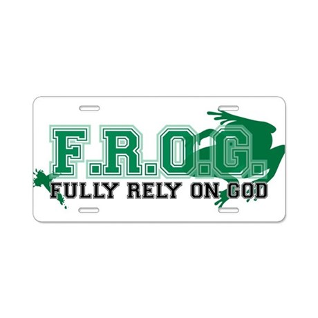 FROG Green Aluminum License Plate