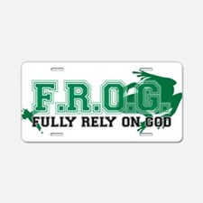 FROG Green Aluminum License Plate