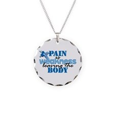 Pain is weakness cross Necklace