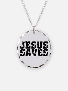 Jesus Saves bk Necklace