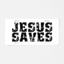 Jesus Saves bk Aluminum License Plate