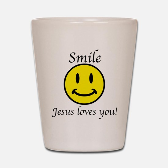 Smile Jesus Shot Glass