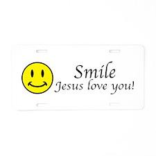 Smile Jesus Aluminum License Plate