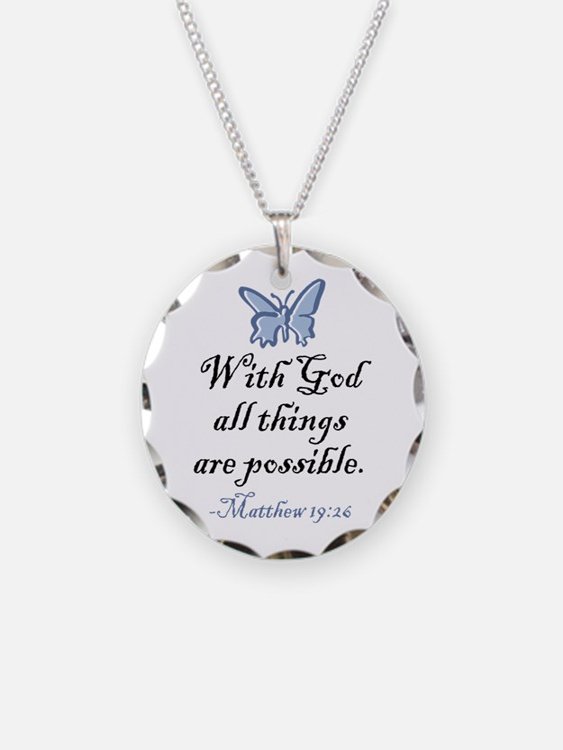 Matthew 19:26 Necklace