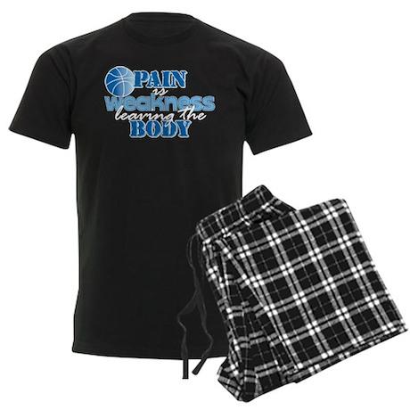 Pain is weakness bball Men's Dark Pajamas