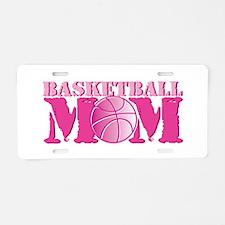 Basketball Mom Pink Aluminum License Plate