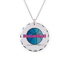 Basketball PkBl Necklace
