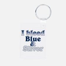 I Bleed Blue and Silver Keychains