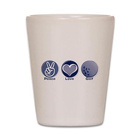 Peace Love Golf Shot Glass