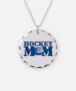 Hockey Mom Necklace Circle Charm