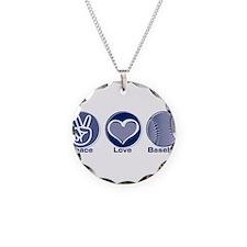 Peace Love Baseball Necklace