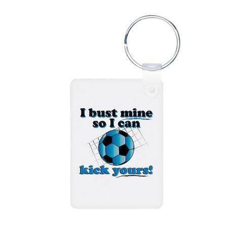 Bust Mine Soccer Aluminum Photo Keychain
