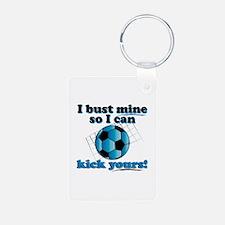 Bust Mine Soccer Keychains
