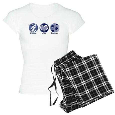 Peace Love Soccer Women's Light Pajamas