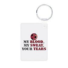 Blood Sweat Soccer Keychains