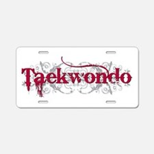 Taekwondo Red Aluminum License Plate