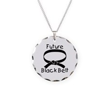Future Black Belt Necklace Circle Charm