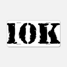 10K Aluminum License Plate