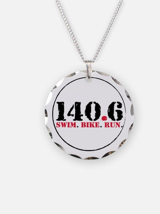 140.6 Swim Bike Run Necklace