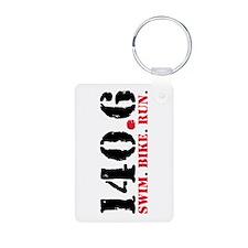 140.6 Swim Bike Run Keychains