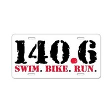 140.6 Swim Bike Run Aluminum License Plate