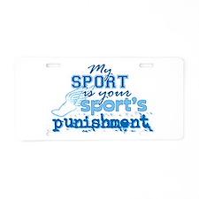 Sport Punishment blue Aluminum License Plate