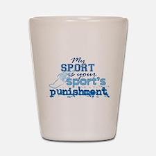 Sport Punishment blue Shot Glass