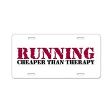 Running therapy red Aluminum License Plate