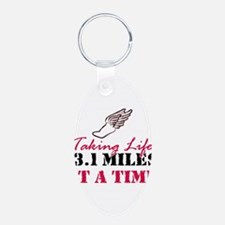 Taking Life 13.1 miles Keychains