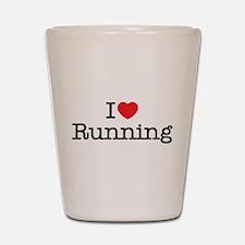 I Love Running Shot Glass