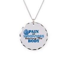 Pain is weakness vball Necklace