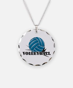 Volleyball starbust blue Necklace