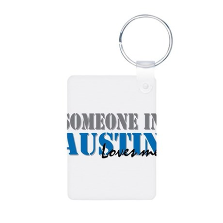 Someone in Austin Aluminum Photo Keychain