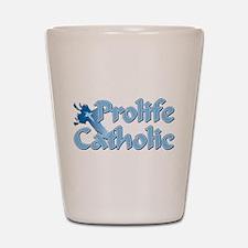 Prolife Catholic Cross Shot Glass