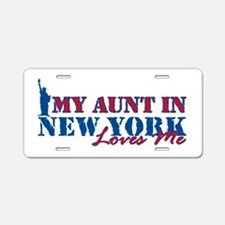 My Aunt in NY Aluminum License Plate
