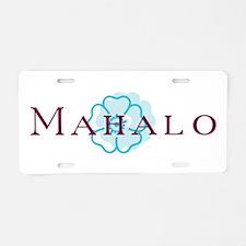 Mahalo Aluminum License Plate