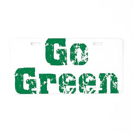 Go Green Aluminum License Plate
