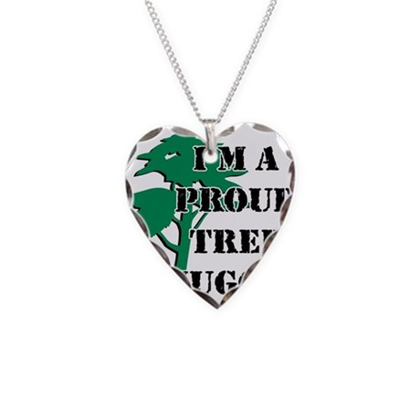 Proud Tree Hugger Necklace Heart Charm