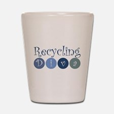 Recycling Diva Shot Glass