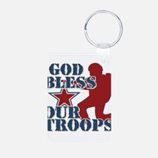 God Bless Our Troops Keychains